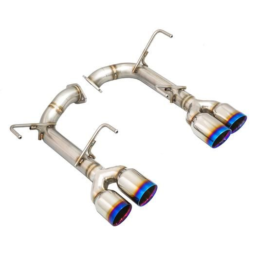 REMARK STAINLESS STEEL AXLE BACK EXHAUST - BURNT DOUBLE WALL TIPS - 2015+ WRX, 2015+ STI
