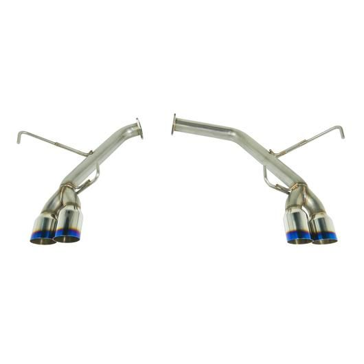 REMARK SPT STYLE AXLE BACK EXHAUST - SINGLE WALL BURNT TIPS - 2015+ WRX, 2015+ STI