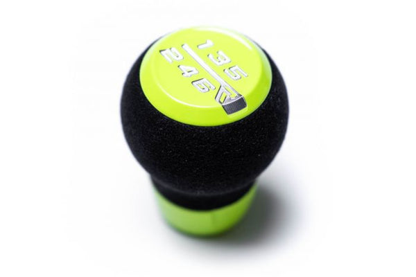 RACESENG STRATOSE LIMITED EDITION SHIFT KNOB WITH ALCANTARA CORE - NEON YELLOW - 6SPD MODELS - M12X1.25mm