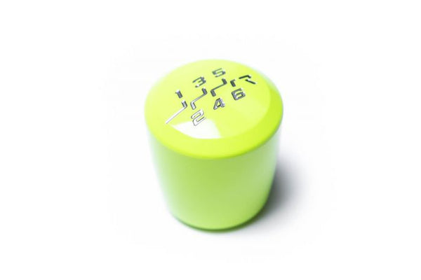 RACESENG ASHIKO LIMITED EDITION SHIFT KNOB WITH NEOTERIC ENGRAVING - NEON YELLOW - 6SPD MODELS - M12X1.25mm