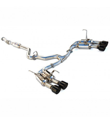 INVIDIA GEMINI R400 STAINLESS STEEL EXHAUST - BLACK TIPS - 15-20 STI, 15-20 WRX