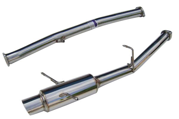 INVIDIA N1 RACING SERIES SINGLE EXIT CATBACK EXHAUST - 04-07 STI, 02-07 WRX