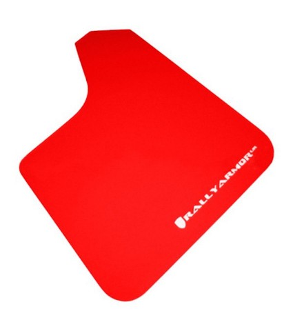 RALLY ARMOR UR UNIVERSAL MUD FLAPS - RED/WHITE LOGO