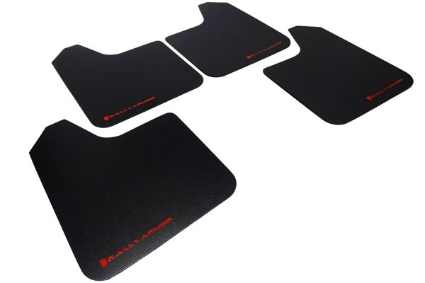 RALLY ARMOR BASIC MUD FLAPS - RED LOGO - UNIVERSAL