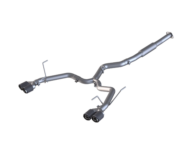 MBRP PRO SERIES 3 INCH STAINLESS STEEL - RACE EXHAUST - CARBON TIPS - 15-20 WRX, 15-20 STI