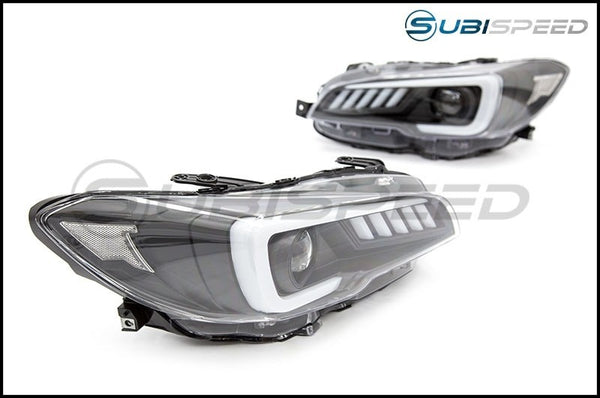 SUBISPEED EURO DRL SEQUENTIAL LED HEADLIGHTS - 2015-2017 WRX & STI, 2018-2020 WRX BASE AND PREMIUM