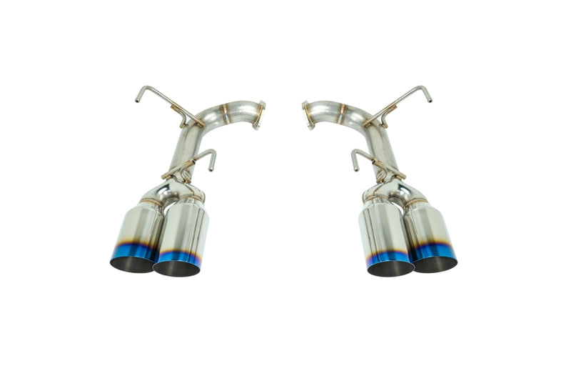 REMARK STAINLESS STEEL AXLE BACK EXHAUST - BURNT SINGLE WALL 4 INCH TIPS - 2015+ WRX, 2015+ STI
