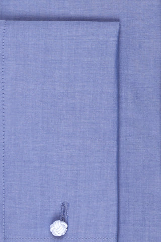 Ready Made - Blue Plain Weave Poplin Shirt - Slim Fit