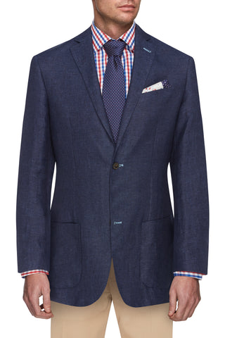Navy colour Linen Jacket