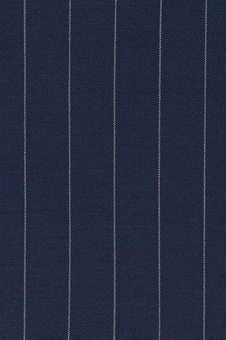 Navy Striped Fine Merino Wool Jacket