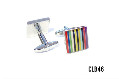 Cufflinks - CLB46 Multi Stripes