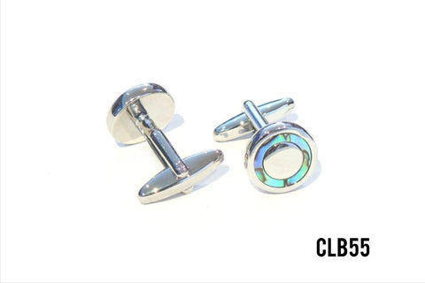 Cufflinks -  CLB55 Opal look Circle