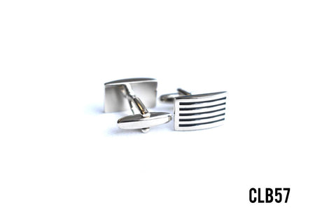 Cufflinks -  CLB57 Metallic Grill