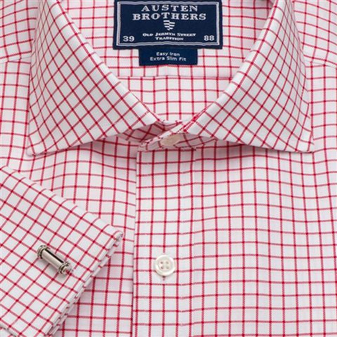 Men's Red Oxford Check