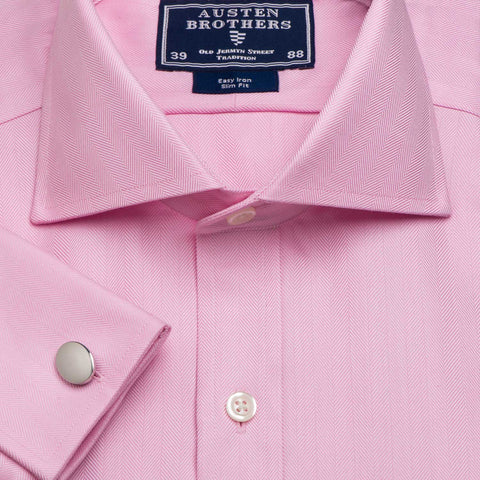 Made 2 Order - A Herringbone Pink Royal Twill