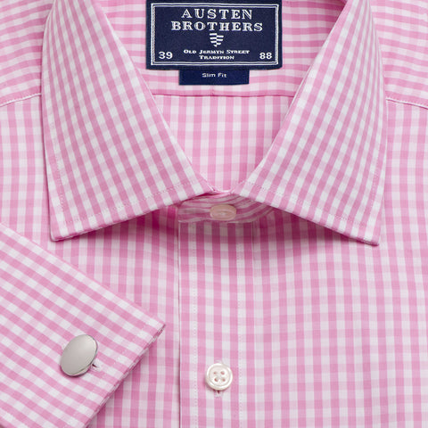 Made 2 Order - Check Pink Bold Poplin
