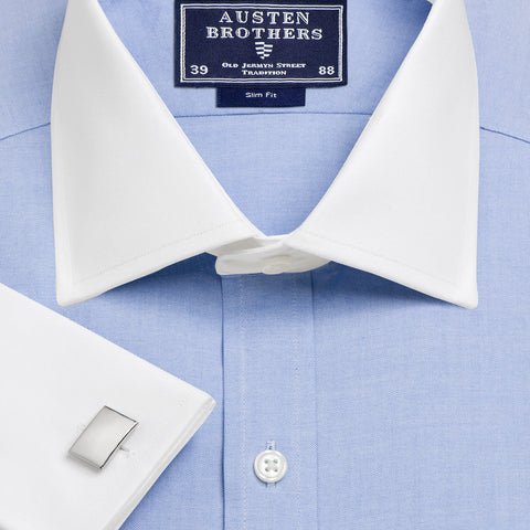 Made 2 Order - Blue Oxford Bankers Pinpoint