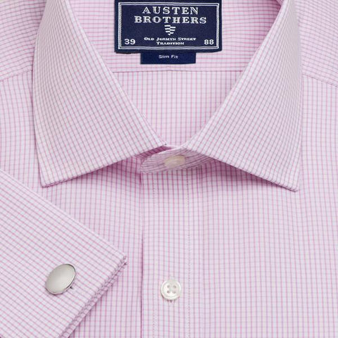 Made 2 Order - Pink Edinburgh Check Poplin