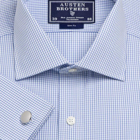 Made 2 Order - Sky Edinburgh Check Poplin