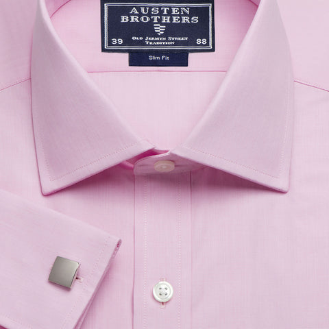 Made 2 Order - A Solid End on End Pink Poplin