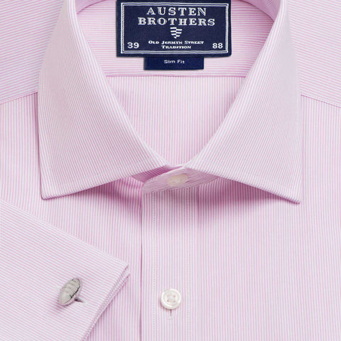 Made 2 Order - Pink Edinburgh Stripe Poplin
