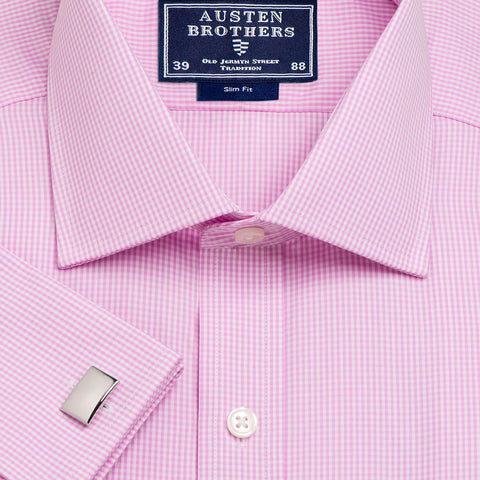 Made 2 Order - Pink Gingham Check Poplin