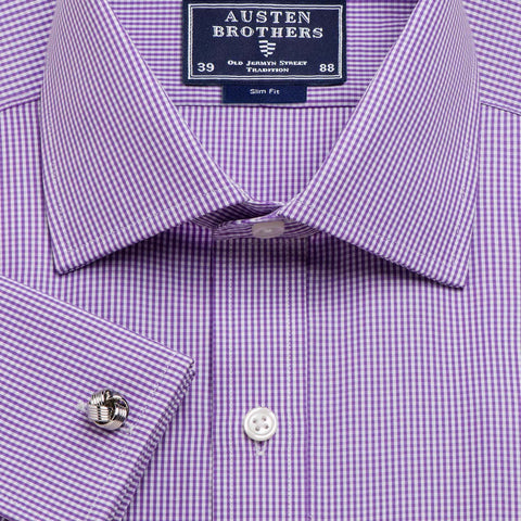 Made 2 Order - Purple Gingham Check Poplin