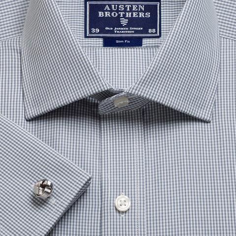 Made 2 Order - Grey Gingham Poplin