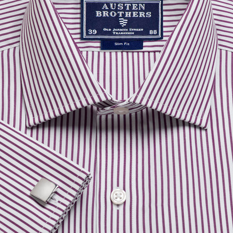 Made 2 Order - Purple Knightsbridge Stripe Poplin