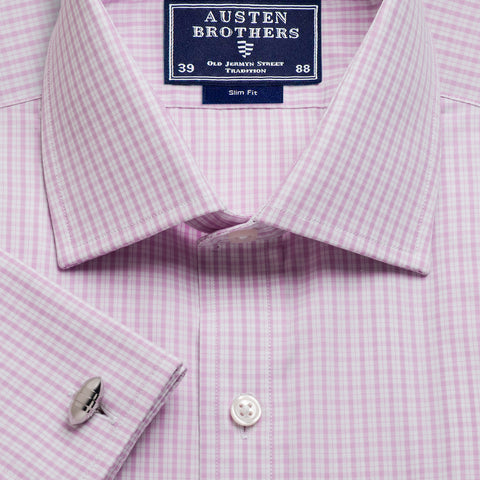 Made 2 Order - Pink Kensington Check Poplin