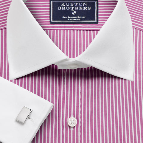 Made 2 Order - Bankers Magenta Mayfair Stripe NEW COLLECTION