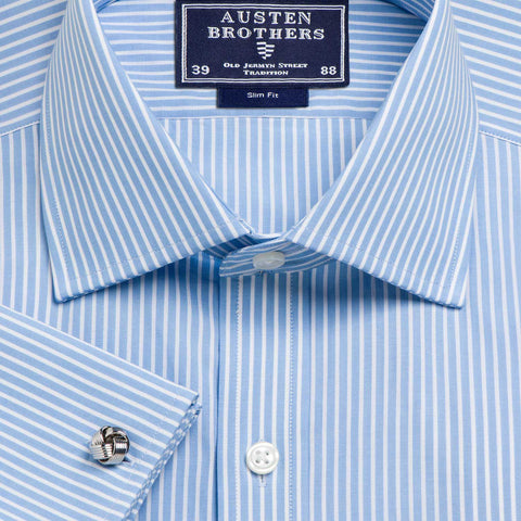 Made 2 Order - Stripe Sky Mayfair Poplin