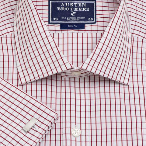 Made 2 Order - Red Piccadilly Check Poplin