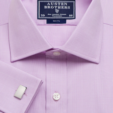 Made 2 Order - Check Lilac Large Prince of Wales Poplin