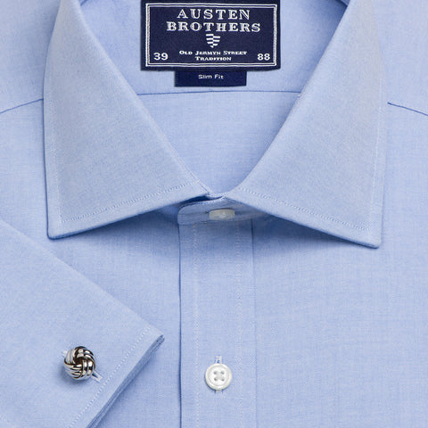 Made 2 Order - Blue Plain Oxford Pinpoint