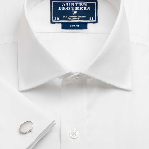 Made 2 Order - A Solid White Poplin Shirt