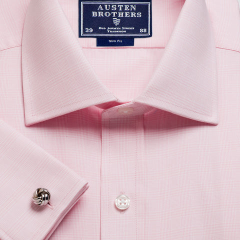 Made 2 Order - Pink Prince of Wales Check Twill