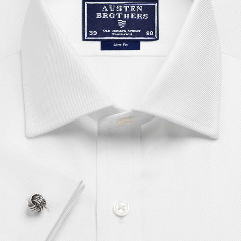 Made 2 Order - A Solid White Royal Twill Shirt