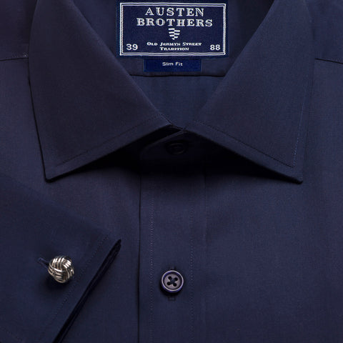 Made 2 Order - Navy Sateen Shirt