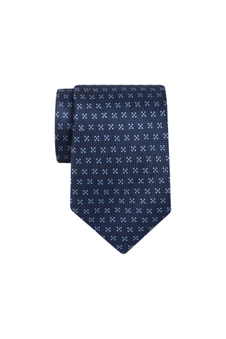 Tie -  Mid Blue with Cross