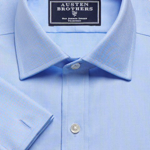 NON IRON Made 2 Order - Oxford Sky Blue