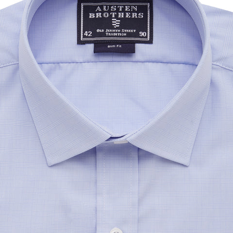 Ready Made - Sky Check Poplin Shirt - Slim Fit