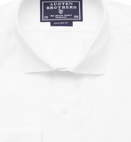 Ready Made - Solid White Poplin Shirt - Extra Slim Fit