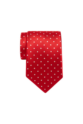 Tie - Red with White Dot