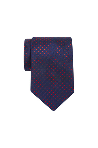 Copy of Tie - Royal with Red Dot