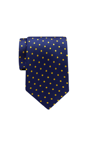 TIE – Navy Gold Dot Pattern