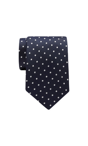 TIE – Navy White Dot Pattern