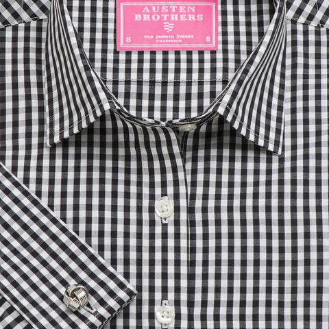 Made 2 Order - Black Bold Check Poplin