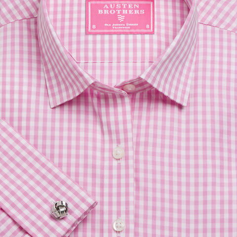 Made 2 Measure - Pink Bold Check Poplin