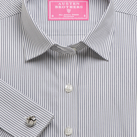Made 2 Order - Charcoal Edinburgh Stripe Poplin